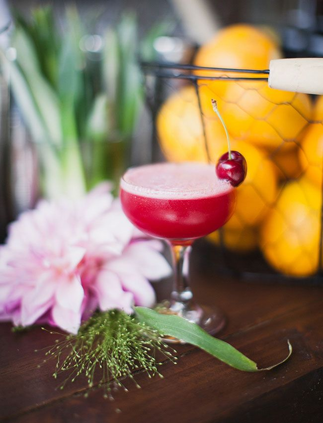 CHERRY GIMLET 2 oz Aviation Gin 1 oz lime juice 3/4 oz simple syrup 2 bing cherries Muddle all ingredients in shaker. Shake vigorously, strain into a coupe glass, and garnish with a bing cherry. Enjoy!
