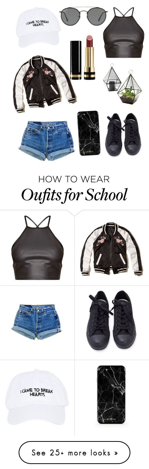 """"" by julietpenrose on Polyvore featuring Nasaseasons, Hollister Co., Ray-Ban and Gucci"