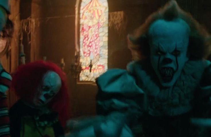 Did you notice the Tim Curry Pennywise cameo in the new 'IT' trailer! #comicboiz #it #pennywise #clown #movie #film #like #love #follow #timcurry