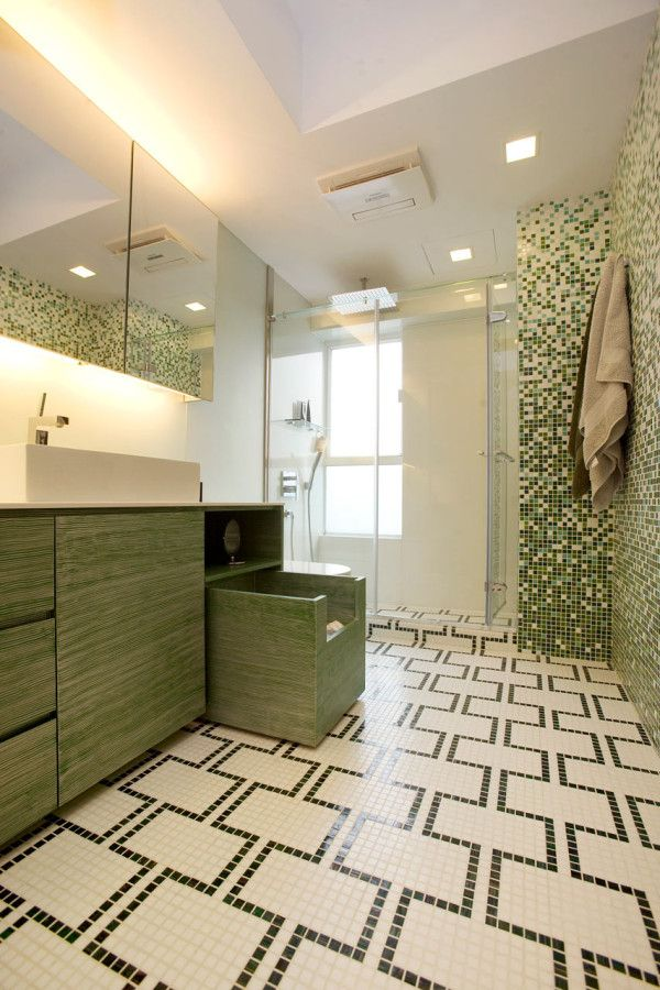 Best 25 mosaic tile bathrooms ideas on pinterest for Unconventional flooring ideas