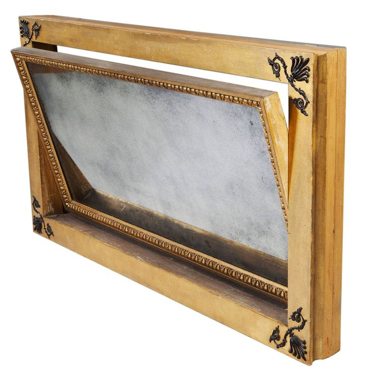 Rare and Unusual Regency, Parcel Gilt, Mechanical Patent Overmantel Mirror | From a unique collection of antique and modern mantel mirrors and fireplace mirrors at https://www.1stdibs.com/furniture/mirrors/mantel-mirrors-fireplace-mirrors/