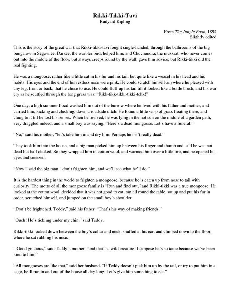 37 best rikki tiki tavi images on pinterest short stories close page 1 rikki tikki tavi full text fandeluxe Choice Image