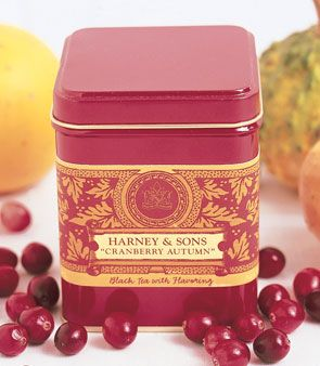 cranberry autumn tea - harney and sons, yummy!