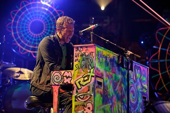 Chris Martin of Coldplay performs at the Verizon Center in Washington, D.C. on July 9th, 2012.