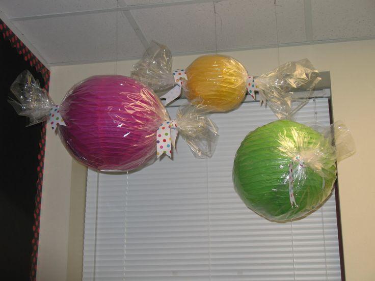 DIY candy lanterns