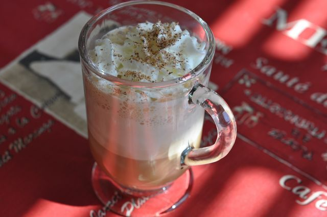 Starbucks Eggnog Latte is one of the ways I have marked the start of the holiday season. This creamy and sweet coffee concoction is my favorite item on their seasonal menu.  This fall I have been on the quest to recreate these delicious coffee drinks at home, and this is my second coffee drink.