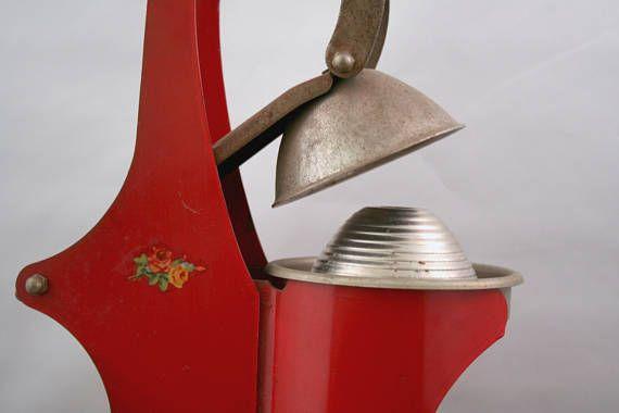 Vintage Juicer Red Tabletop Juicer Vintage Juice Press
