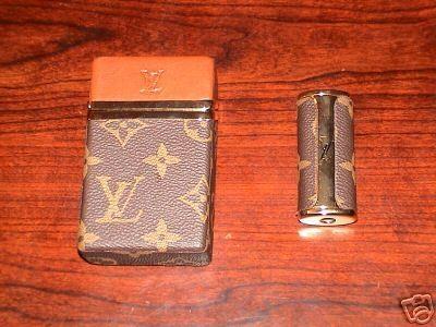 Louis Vuitton Cigarette Case Amp Lighter Holder Le Smoking