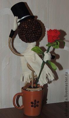 Топиарии ручной работы. Ярмарка Мастеров - ручная работа Джентльмен с розой. Handmade.