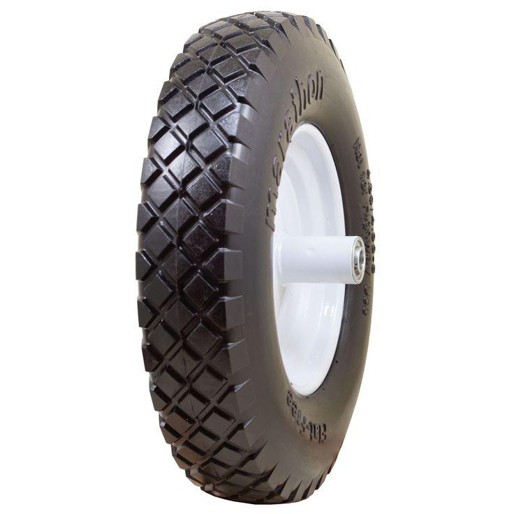 Marathon Industries 00047 16-inch Knobby Flat Free Wheelbarrow Tire (Wheelbarrows), Multi (Plastic)