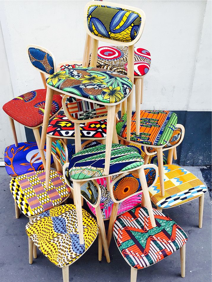 African wax chairs