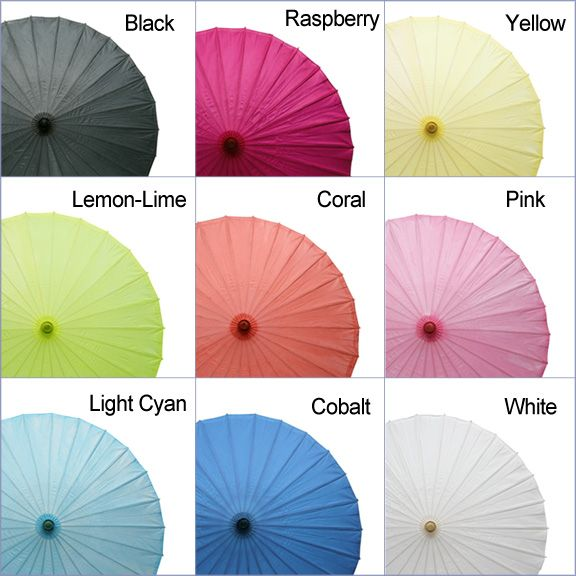 Wedding Paper Parasol- coral and turquoise $5.95