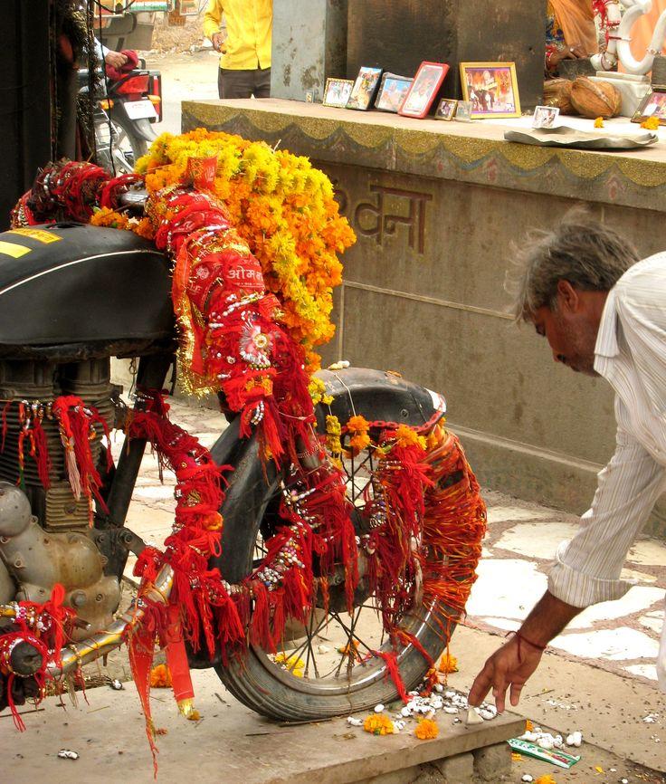 Moto sagrada en la India