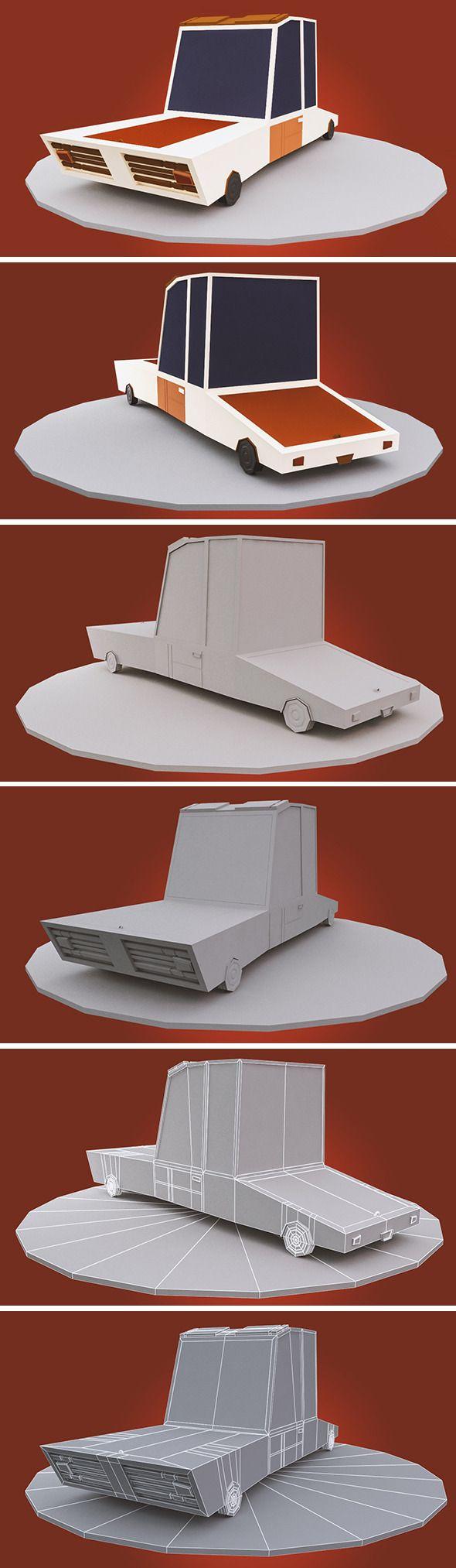 3DOcean low poly cartoon car 10700089