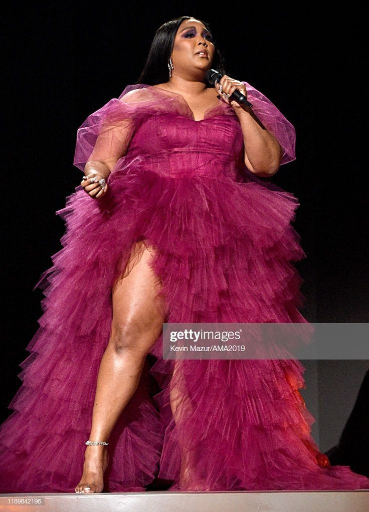 Lizzo performs onstage during the 2019 American Music