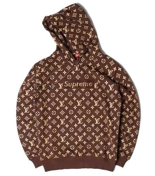 2019 hot sale lower price with largest selection of Supreme x Louis Vuitton Black/Brown Epi Hoodie   Clothes in ...