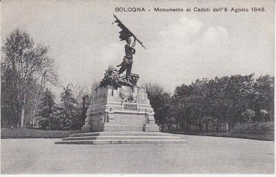 Al Trust delle Cartoline Postcard - Bologna - Monumento ai Caduti dell' 8 Agosto 1848 - postcard c 1909