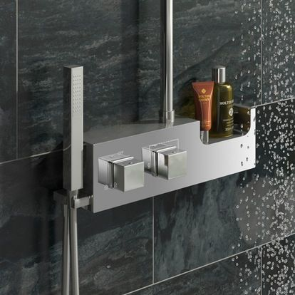 Chime Stainless Steel Riser Rail Kit with Shelf