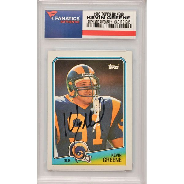 Kevin Greene Los Angeles Rams Fanatics Authentic Autographed 1988 Topps Rookie #300 Card - $109.99