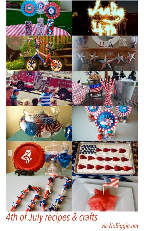 4th of July recipes and crafts via NoBiggie.net