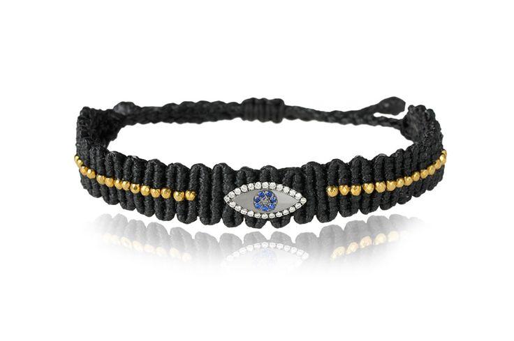 Zoe Kompitsi | Black Eye Diamonds Bracelet