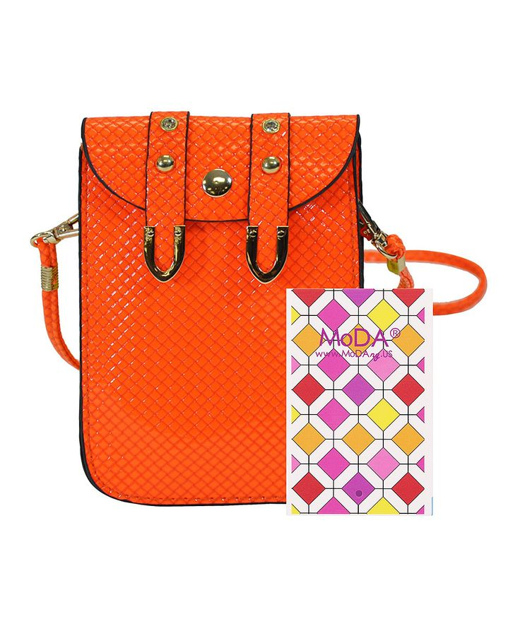Look at this MoDA Orange Phone Crossbody Bag & Backup Battery on #zulily today!