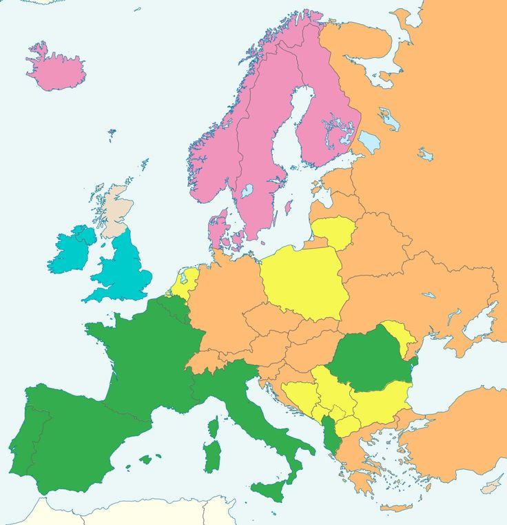 Legal systems in Europe blue: Common lawoff-white: Mixed (common law + civil law) green: Napoleonic law yellow: Mixed (indigenous law + Napoleonic/German–Austrian law)orange: German–Austrian law purple: Nordic law