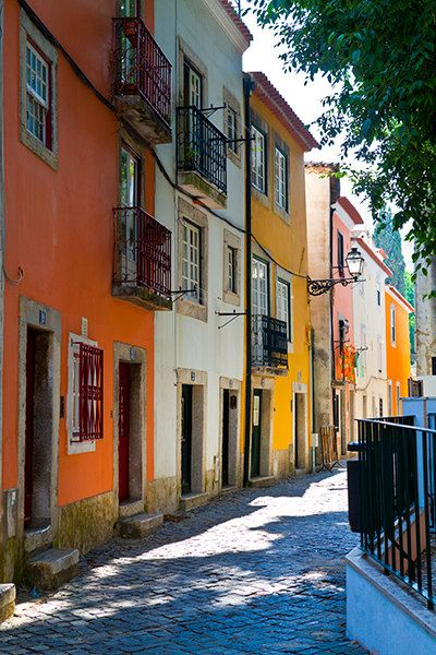 Colorful Houses in Lisbon Portugal by MaxiwowPhotography on Etsy Travel Photography. Lisbon Images. Lisbon Photos. Old World. Portugal. Wall Decor. Wall Art. Fine Art. Home Decor.