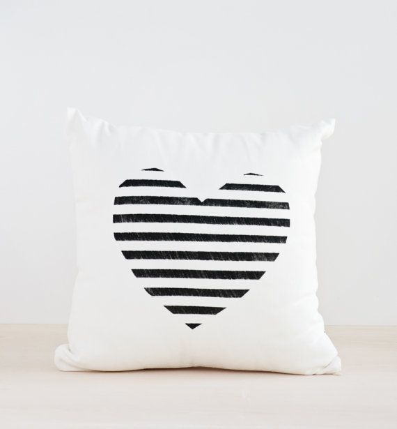 This geometric throw, will be a great gift for the holidays. Hand painted Heart Pillow and Colorful Dots on the other side This pillow has two