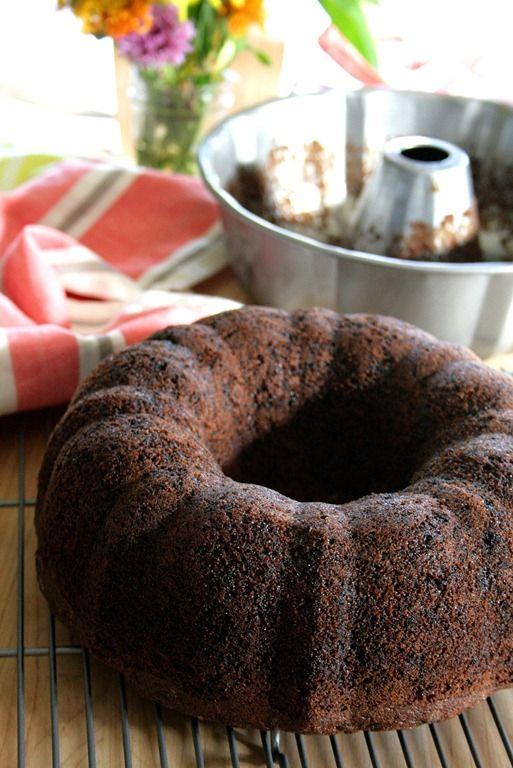 Easy Oreo Bundt Cake with Chocolate Ganache