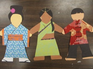 multicultural paper dolls-kids research traditional dress and create paper dolls