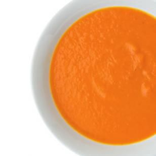 Carrot Soup - Made this for dinner tonight and it was surprisingly good.  Could be great for Meatless Monday.