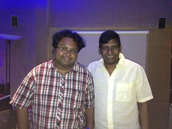 Vadivelu with Music Composer D.Imman