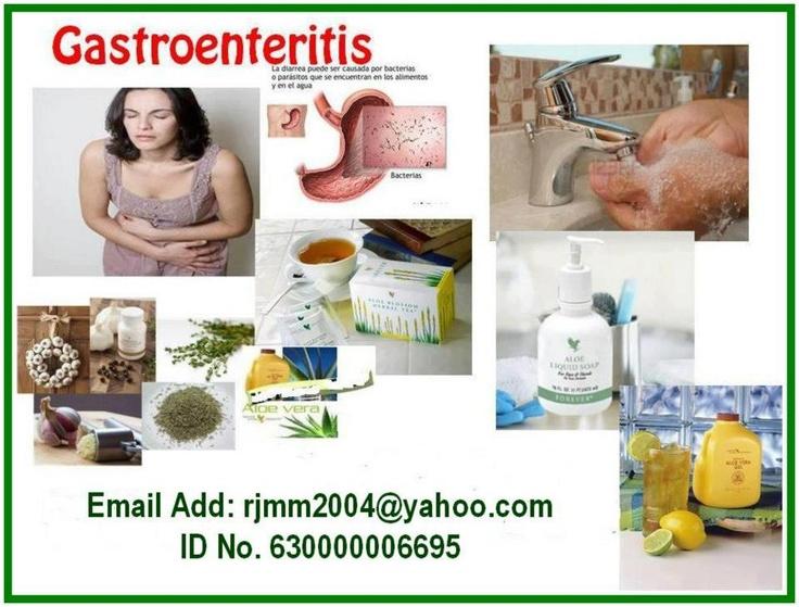 Garlic Thyme, Aloe Vera Gel and Herbal Tea for Gastroenteritis