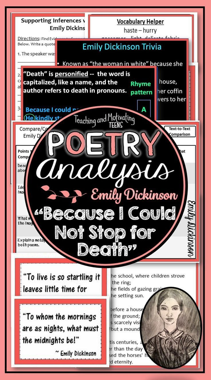 Immerse Your Student In A Close Read Of Thi Classic Beautiful Poem You Ll Get Task Card Mini P Reading Comprehension For Kid Poetry Lessons Because I Could Not Stop Death Paraphrase