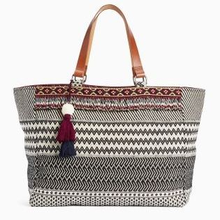 Embrace boho this summer with our monochrome beaded shopper bag!