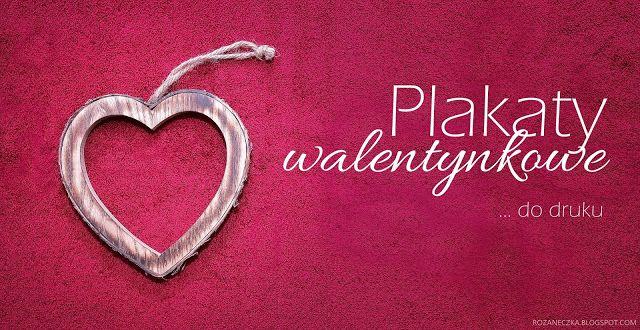 Rozaneczka: Love is in the air | 3 plakaty walentynkowe do druku - po angielsku