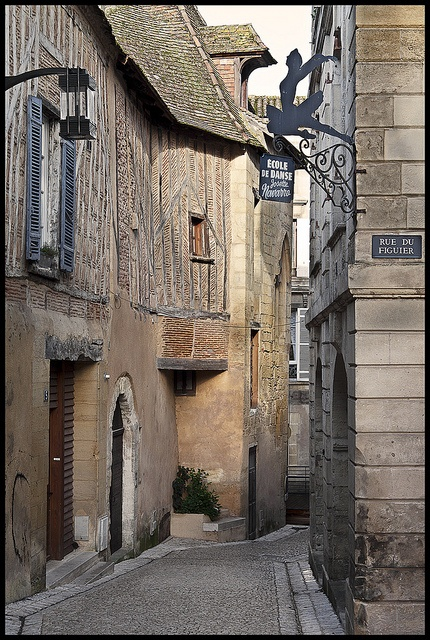 Old street of Bergerac, Dordogne, France