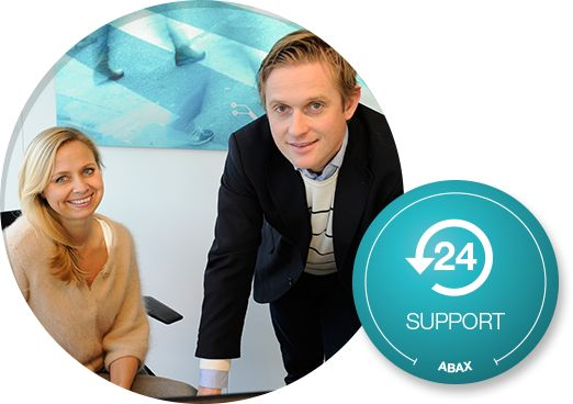 Abax 24/7 support on all our product and system solutions.