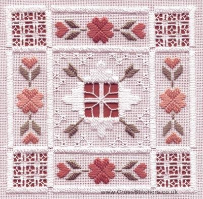 hardanger embroidery | quartz hardanger kit from classic embroidery stitched on 22 hpi ...