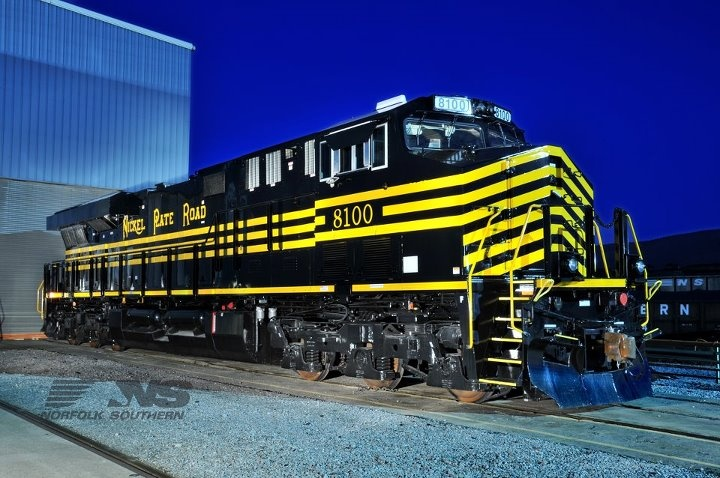 Ns 8100 nickel plate road norfolk southern southern