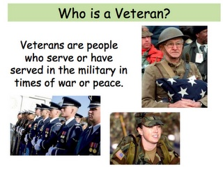 Veterans day powerpoint - geared toward 1st grade