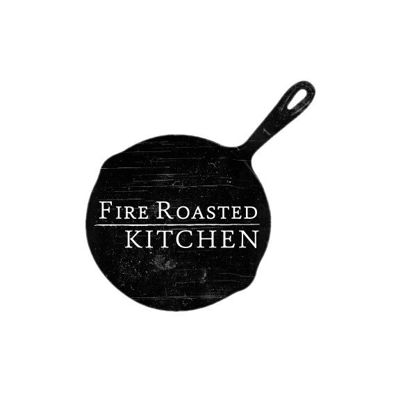 fire roasted kitch branding design, branding design, branding, logo, logo design, business logo, catering logo, personal chef logo, restaurant logo
