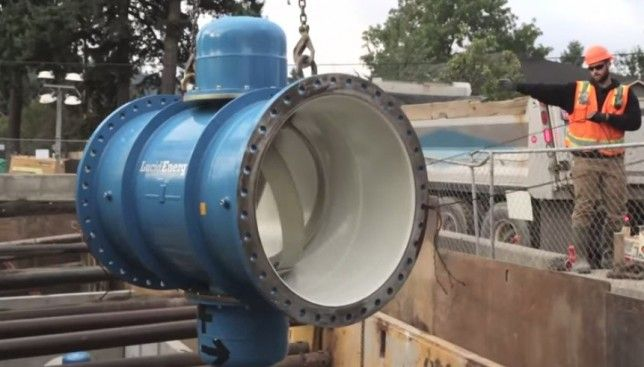 Portland hydropower project taps into underground water pipelines
