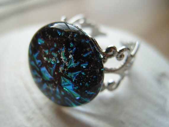 cremation jewelry ring silver plated adjustable by