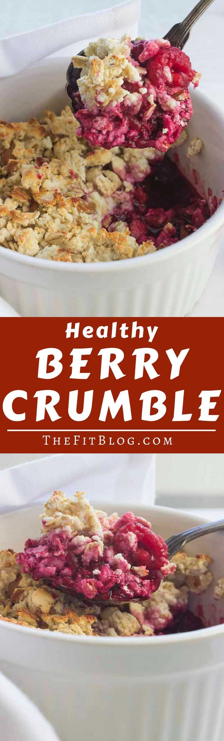 Who says you can't have cake for breakfast? This berry crumble looks and tastes like cake but it actually has the perfect macronutrients for a healthy breakfast or snack  | high protein | low carb | sugar free | gluten free | diabetes friendly |  via @TheFitBlog