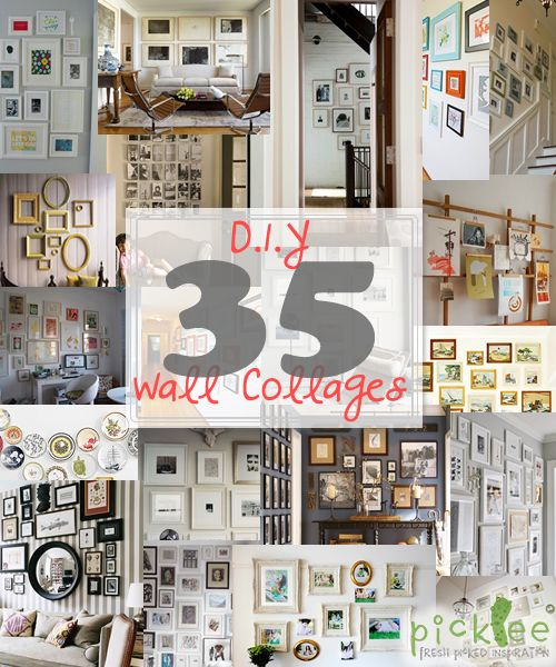 35 DIY Wall Collages THAT'S LIKE COLLAGE HEAVEN OH MY GOSH THIS IS NOT GOOD TO SHOW ME! EVERYTHING WILL BECOME A COLLAGE.