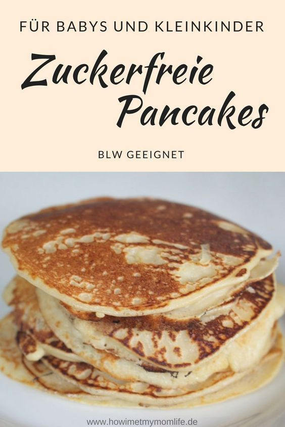 Zuckerfreie Pancakes für Babys und Kinder (BLW geeignet