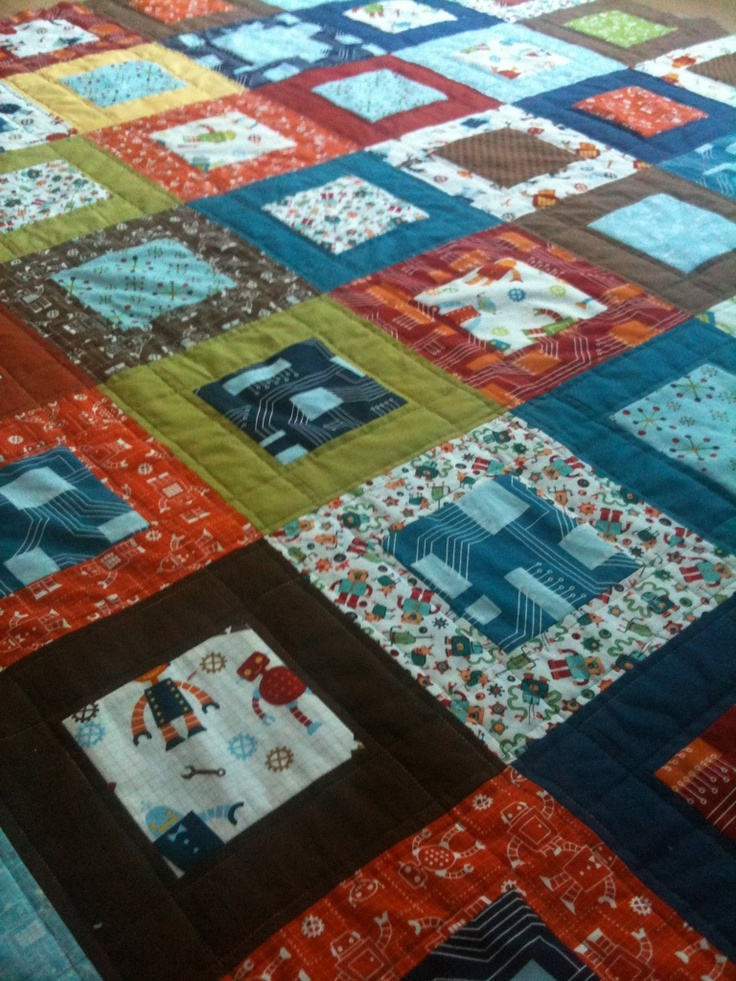 like the simple quilting pattern