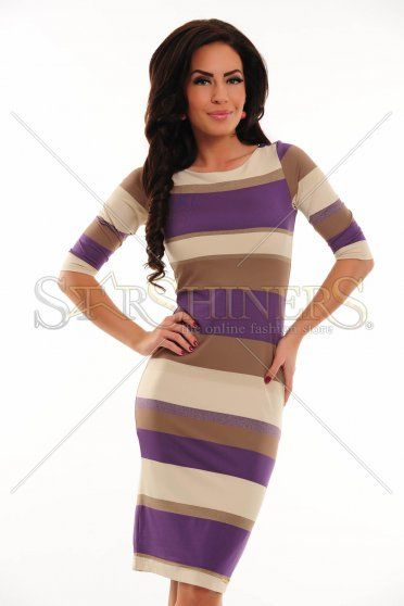 Rochie MissQ Glowing Edge Purple